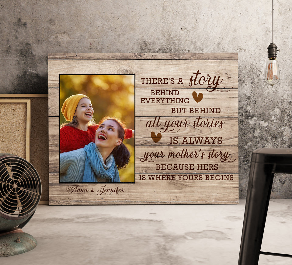 Custom personalized photo to canvas prints wall art Mother's day gifts idea, pictures on canvas Christmas, birthday presents for mother in law - Mom's Story - PersonalizedWitch