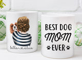 Custom Dog Mug Best Dog Mom Ever Dog Face