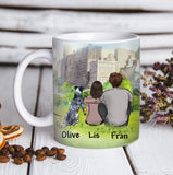 Custom personalized dog & owner coffee mugs gift for dog dad mom pet lovers, dog lovers - Custom Dog Mug City View - PersonalizedWitch