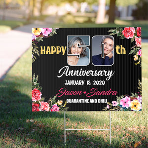 Anniversary Yard Sign - Trending custom personalized sign, birthday sign family gift