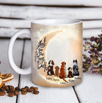 Custom personalized dog coffee mugs gift for dog dad mom pet lovers, dad lovers - Custom Dog Mug Love You To The Moon Back - PersonalizedWitch