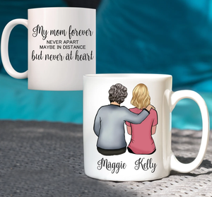 Custom personalized coffee mugs Mother's day gifts idea, Christmas, birthday presents for mom from daughter - Custom Dog Mug My Mom Forever - PersonalizedWitch