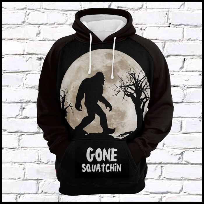 Hoodie Mother's day Father's day unique gift ideas for mom & dad from daughter & son kids, meaningful birthday presents -  Gone Squatchin Bigfoot G525 - All Over Print Unisex Hoodie