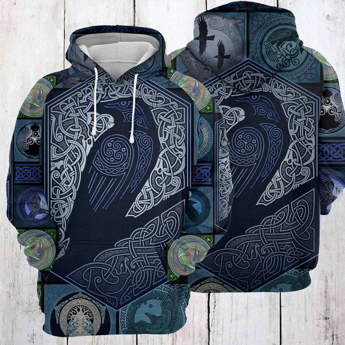 Hoodie Mother's day Father's day unique gift ideas for mom & dad from daughter & son kids, meaningful birthday presents -  Raven Viking D274 - All Over Print Unisex Hoodie