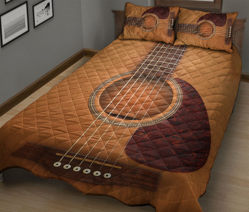 Guitar Simple T284 - Quilt Bedding Set