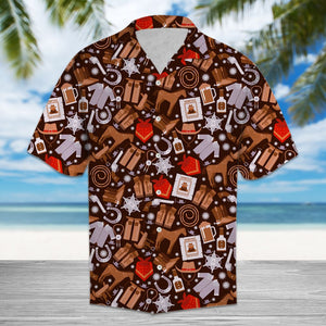 Amazing Cowboy Wild West HT13703 - Hawaii Shirt