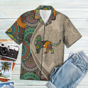 Black Cat Mandala H147022 - Hawaii Shirt