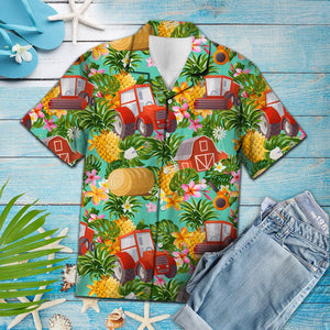 Tropical Pineapple Farmer H157002 - Hawaii Shirt