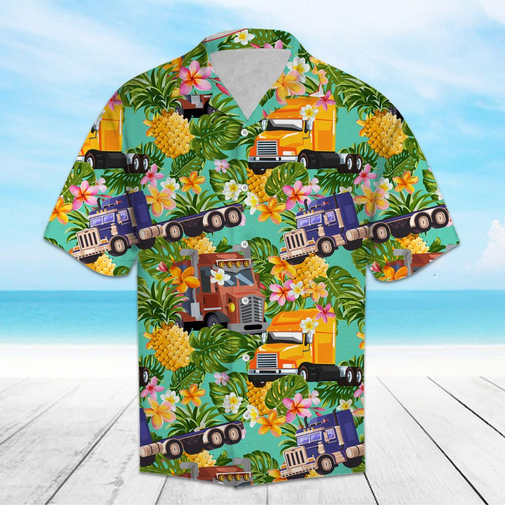 Tropical Pineapple Trucker H157005 - Hawaii Shirt