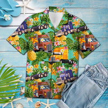 Load image into Gallery viewer, Tropical Pineapple Trucker H157005 - Hawaii Shirt