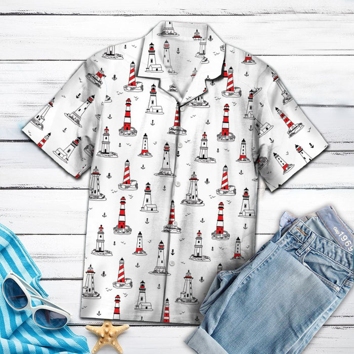 Aloha Shirt Mother's day Father's day unique gift ideas for mom & dad from daughter & son kids, meaningful birthday presents -  Amazing Lighthouse HT14708 - Hawaii Shirt