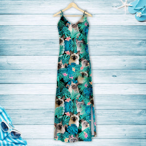 Thai Cat Green Tropical T1507 - Hawaii Dress