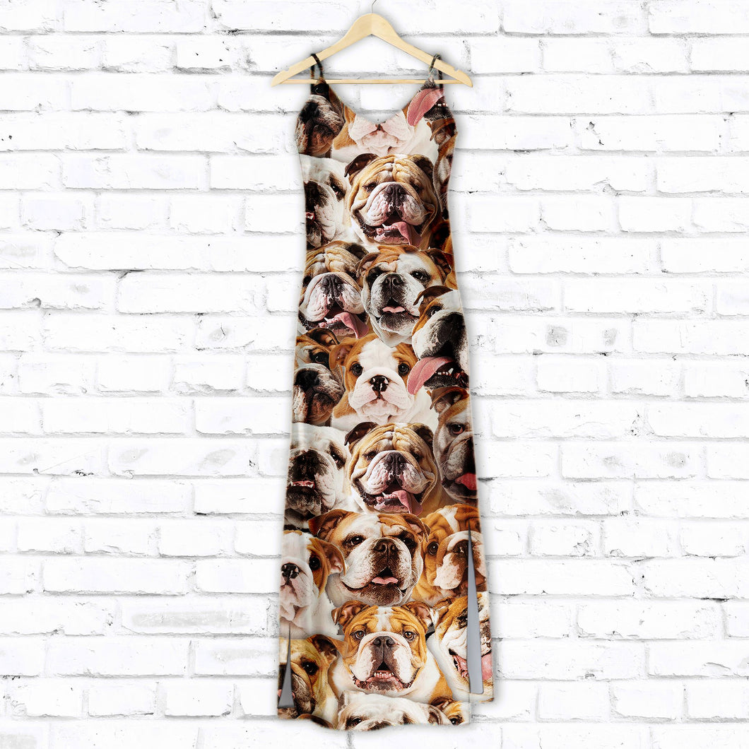 Bulldog Awesome T1507 - Hawaii Dress