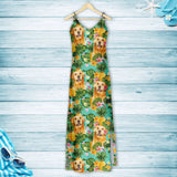 Tropical Pineapple Golden Retriever H157098 - Hawaii Dress
