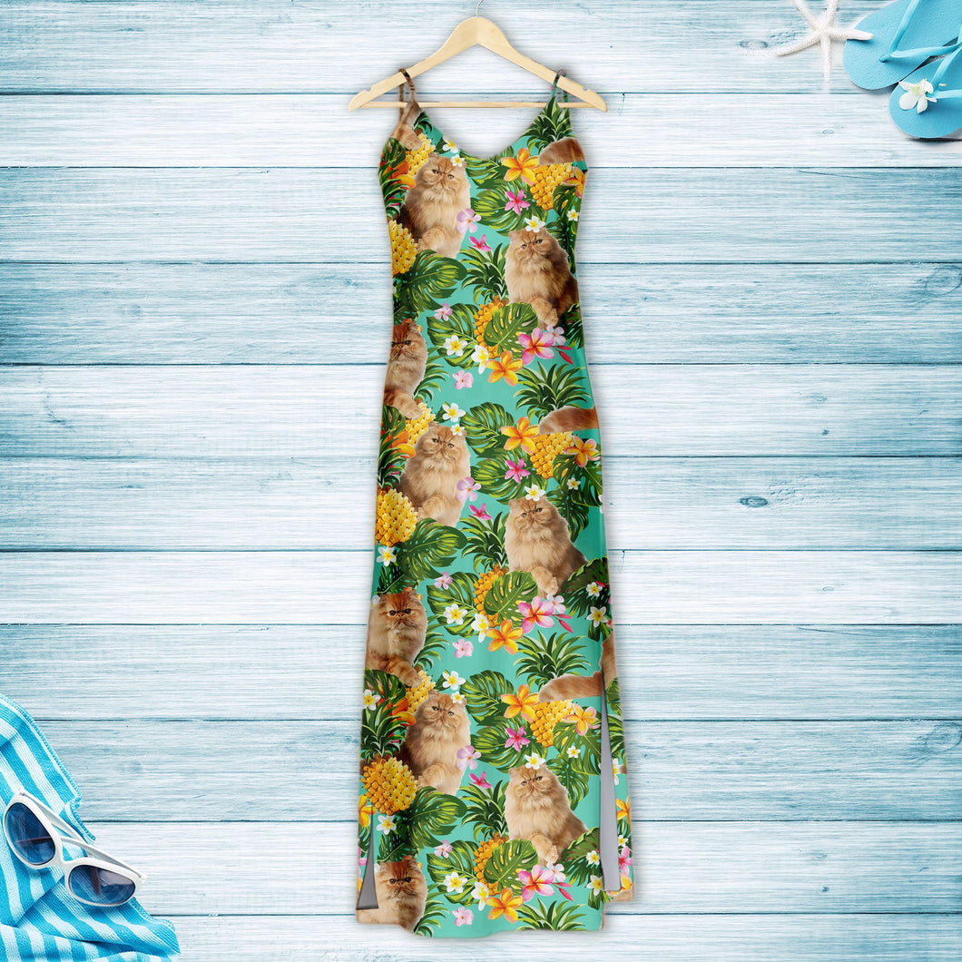 Tropical Pineapple Persian cat H157100 - Hawaii Dress