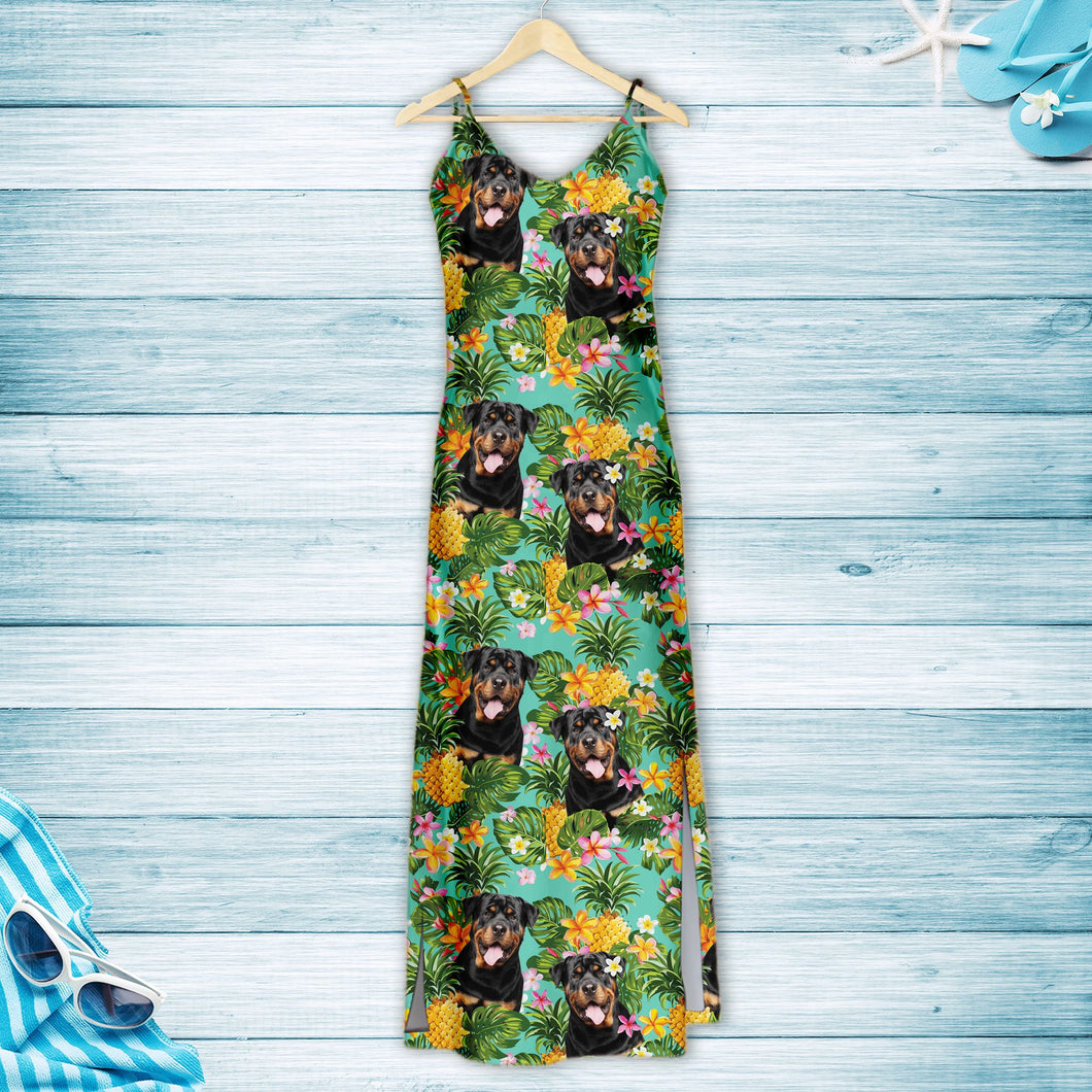 Tropical Pineapple Rottweiler H157108 - Hawaii Dress