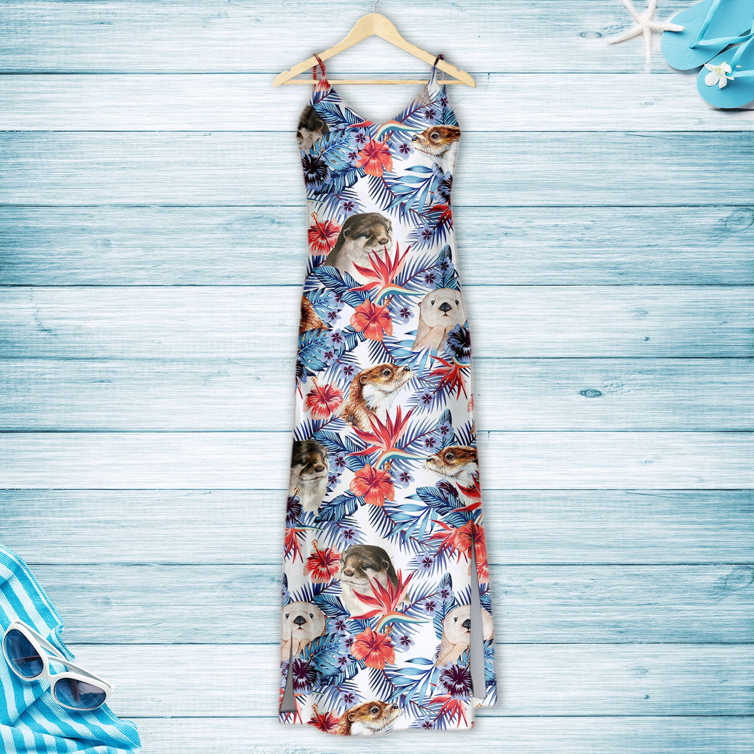 Otter Hibiscus Flower G5715 - Hawaii Dress