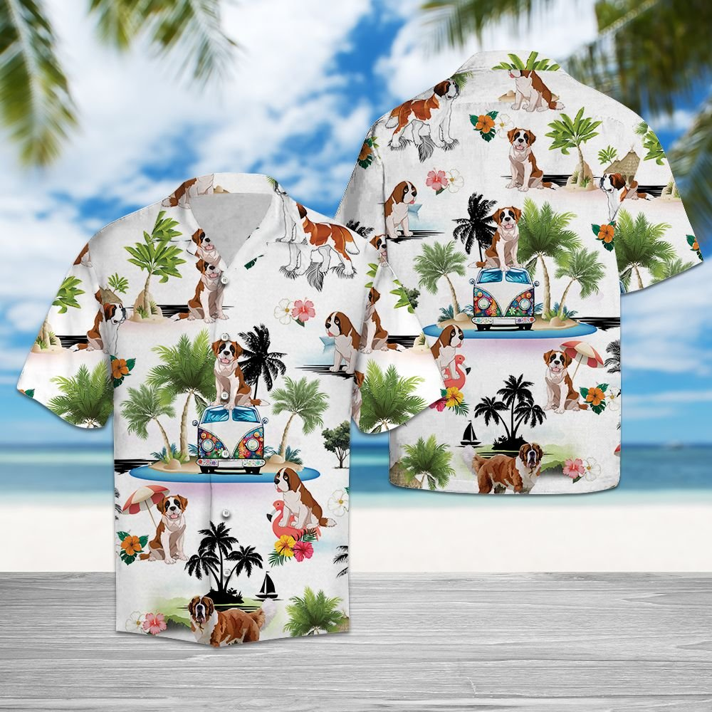 Saint Bernard Vacation G5716 - Hawaii Shirt