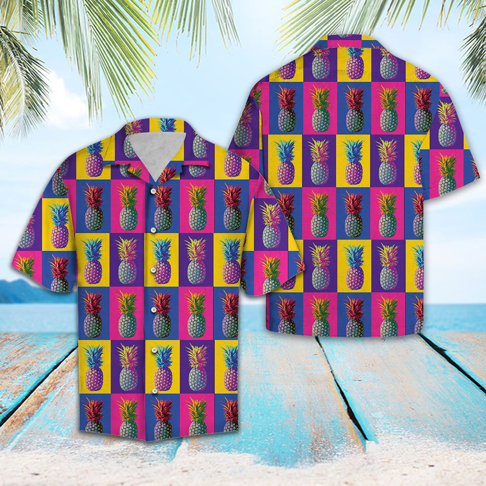 Colorful Pineapple TG5716 - Hawaii Shirt