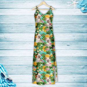 Tropical Pineapple Thai cat H157131 - Hawaii Dress