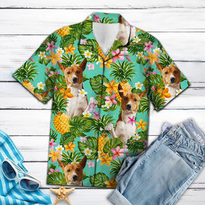 Tropical Pineapple Basenji H137059 - Hawaii Shirt for Teresa Young
