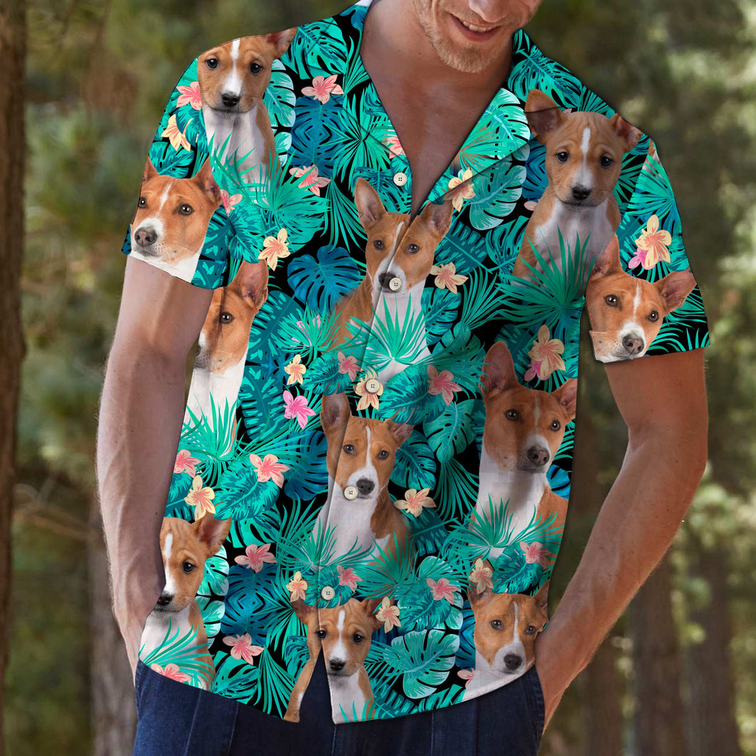 Basenji Tropical T0307 - Hawaii Shirt for Teresa Young