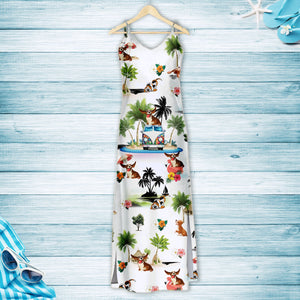 Basset Hound On Vacation G5716 - Hawaii Dress