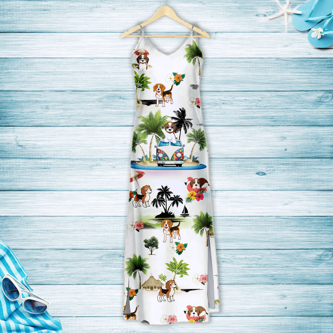 Beagle On Vacation G5716 - Hawaii Dress