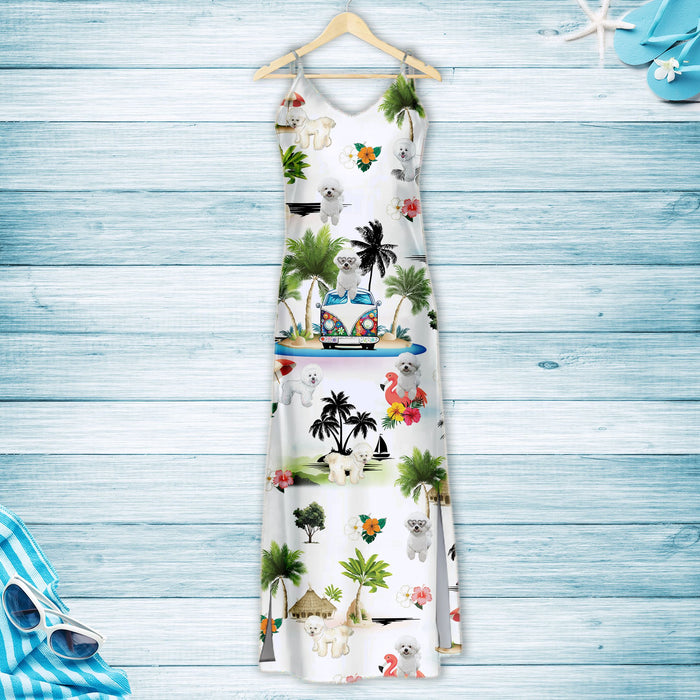 Bichon Frise On Vacation G5716 - Hawaii Dress