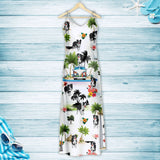 Border Collie On Vacation G5716 - Hawaii Dress