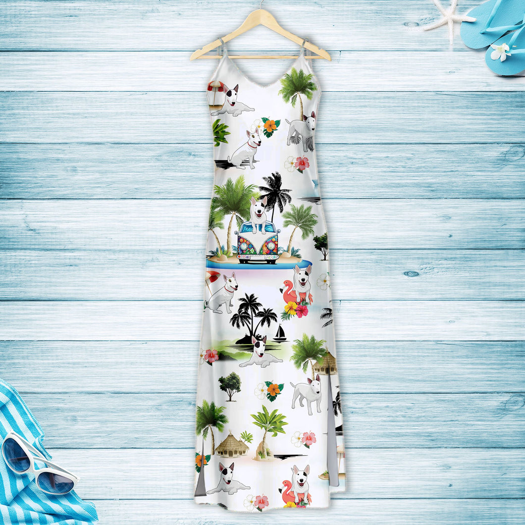 Bull Terrier On Vacation G5716 - Hawaii Dress