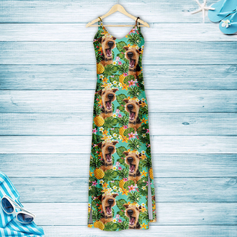 Tropical Pineapple Airedale Terrier H167001 - Hawaii Dress