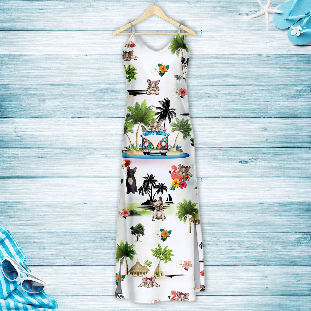 French Bulldog On Vacation G5716 - Hawaii Dress