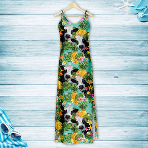 Tropical Pineapple Cow H167008 - Hawaii Dress