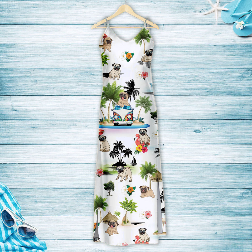 Pug On Vacation G5716 - Hawaii Dress