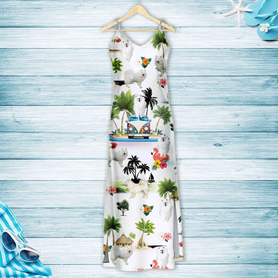 Samoyed On Vacation G5716 - Hawaii Dress