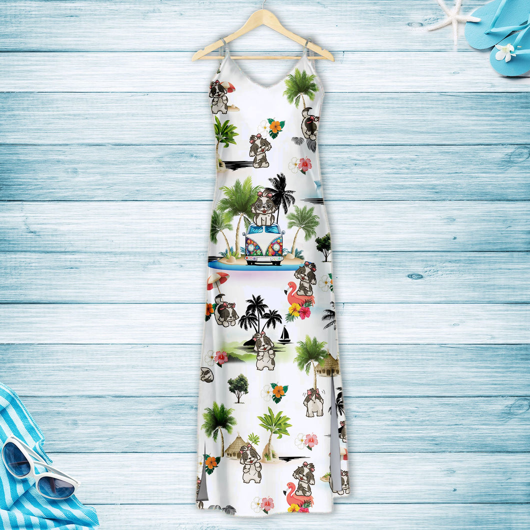 Shih Tzu On Vacation G5716 - Hawaii Dress