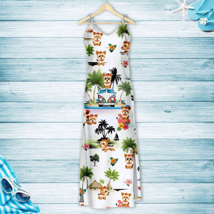 Yorkshire Terrier On Vacation G5716 - Hawaii Dress