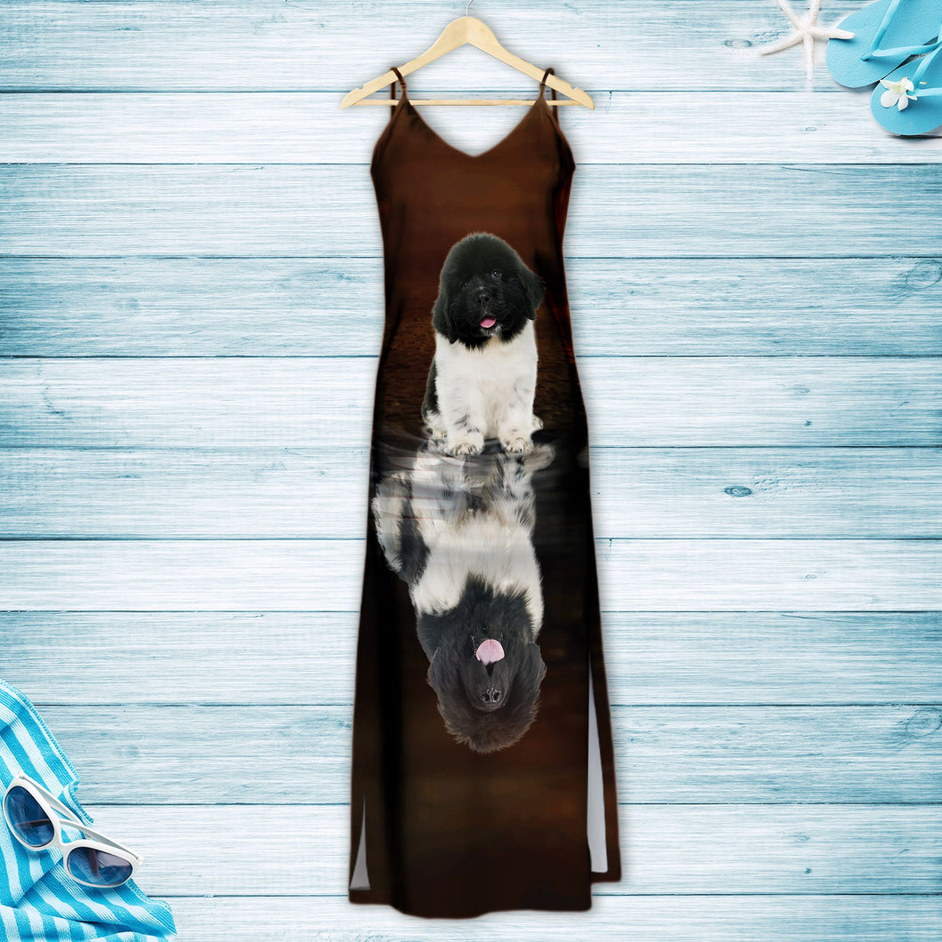 Cute Newfoundland H167068 - Hawaiian Dress