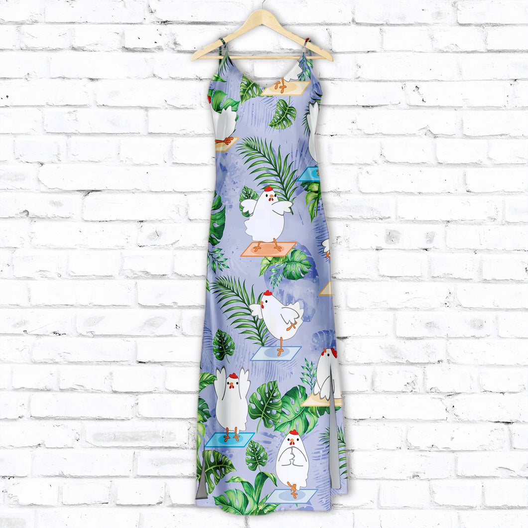 Chicken Love Yoga G5717 - Hawaiian Dress