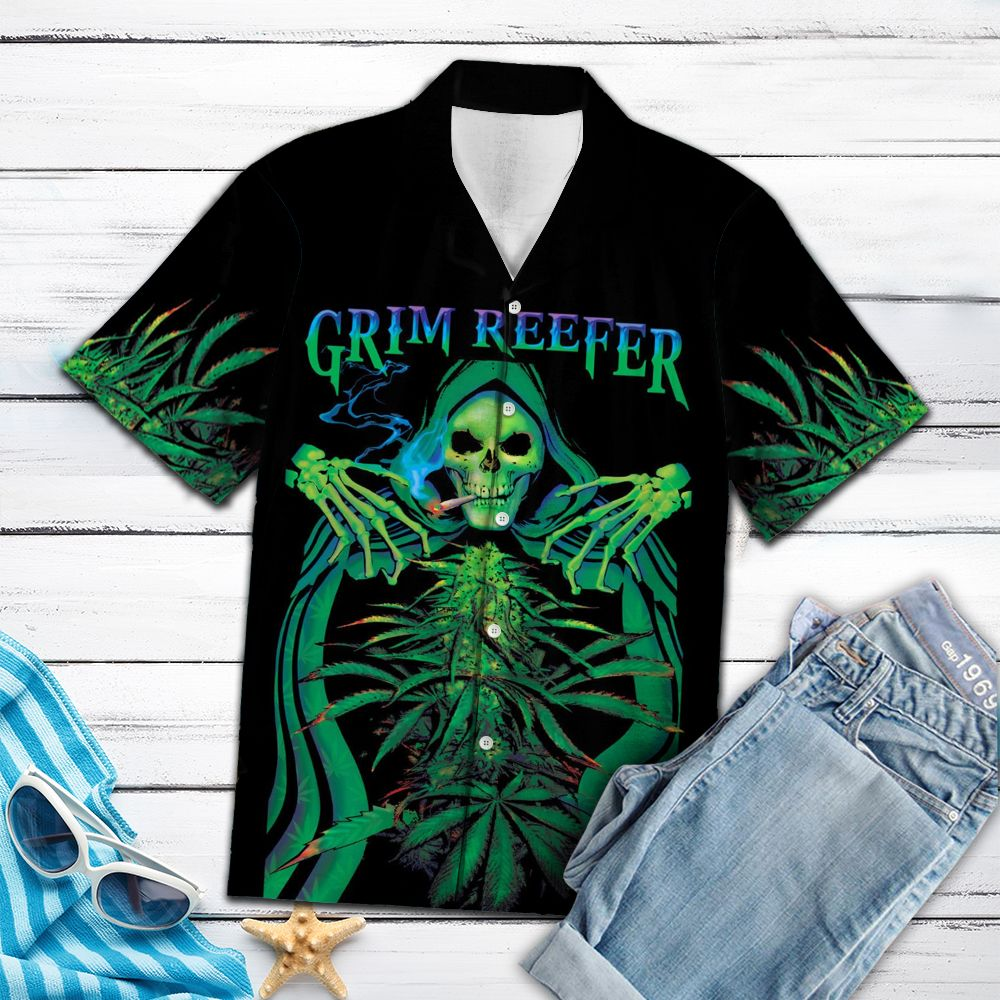 Skull Grim Reefer TY2107 - Hawaiian Shirt