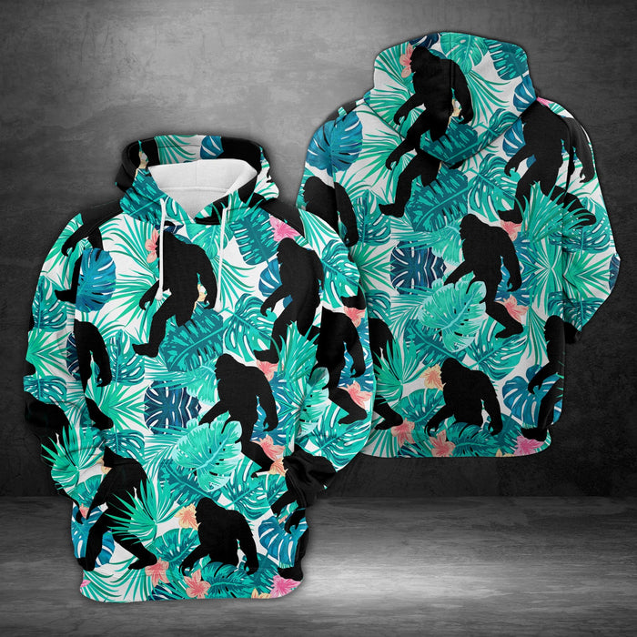 Hoodie Mother's day Father's day unique gift ideas for mom & dad from daughter & son kids, meaningful birthday presents -  Tropical Bigfoot H217047 - All Over Print Unisex Hoodie