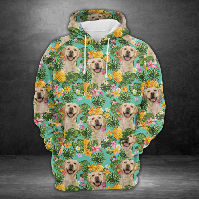 Hoodie Mother's day Father's day unique gift ideas for mom & dad from daughter & son kids, meaningful birthday presents -  Tropical Pineapple Labrador Retriever H227038 - All Over Print Unisex Hoodie
