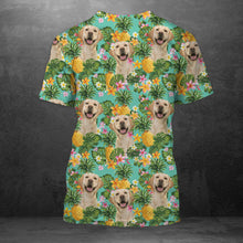 Load image into Gallery viewer, Tropical Pineapple Labrador Retriever H227039 - Unisex Tshirt 3D