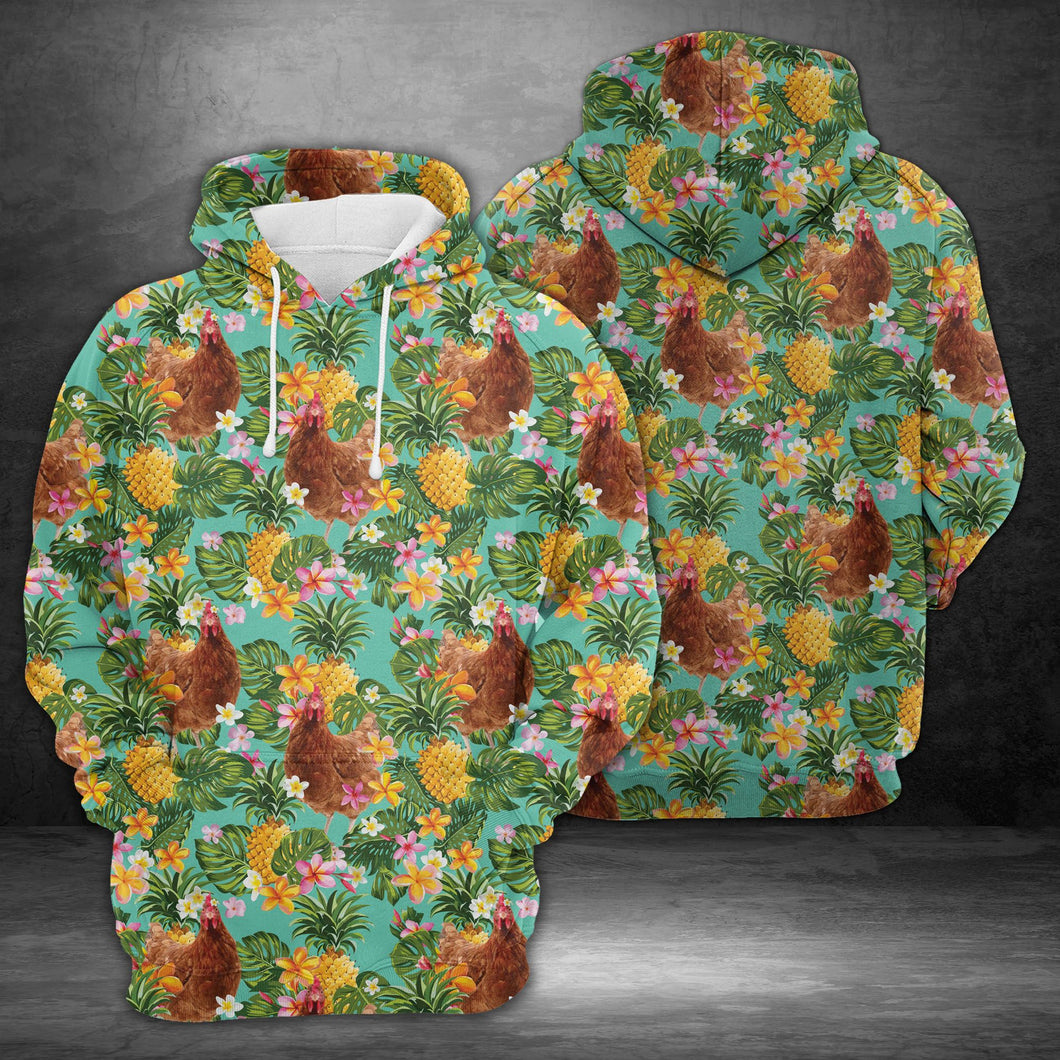 Tropical Pineapple Chicken H227043 - All Over Print Unisex Hoodie