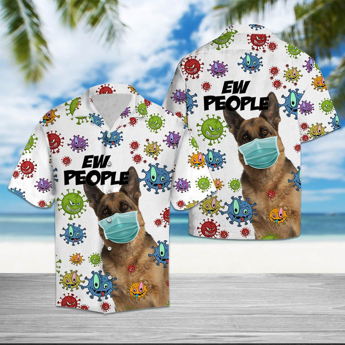 Aloha Shirt Mother's day Father's day unique gift ideas for mom & dad from daughter & son kids, meaningful birthday presents -  German Shepherd Ew People T2307 - Hawaiian Shirt