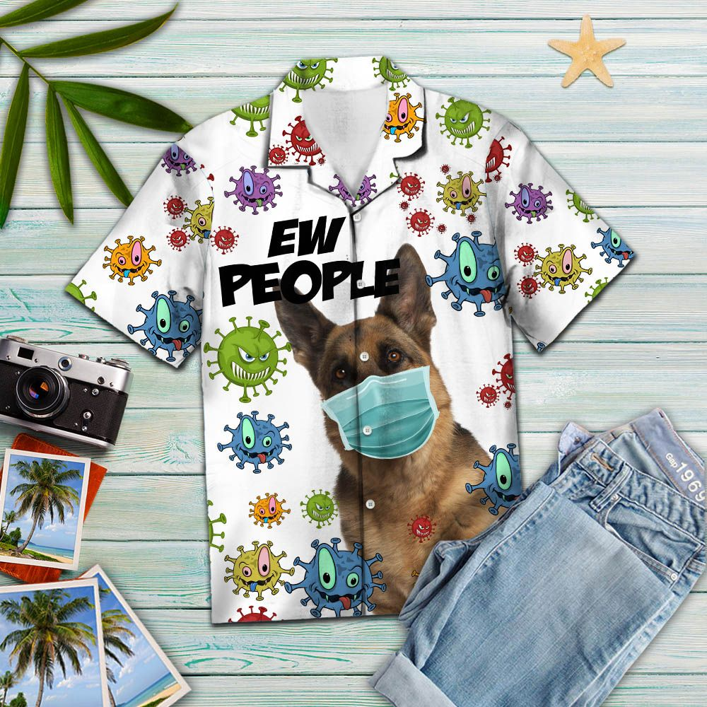 German Shepherd Ew People T2307 - Hawaiian Shirt
