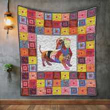 Load image into Gallery viewer, Colorful Dachshund H247032 - Quilt Blanket