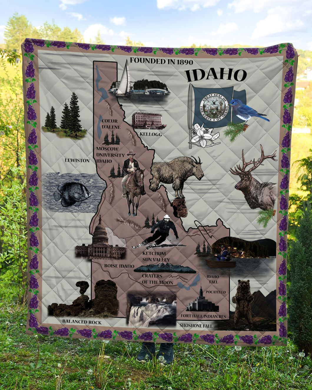 Love Idaho Gem State G5724 - Quilt Blanket