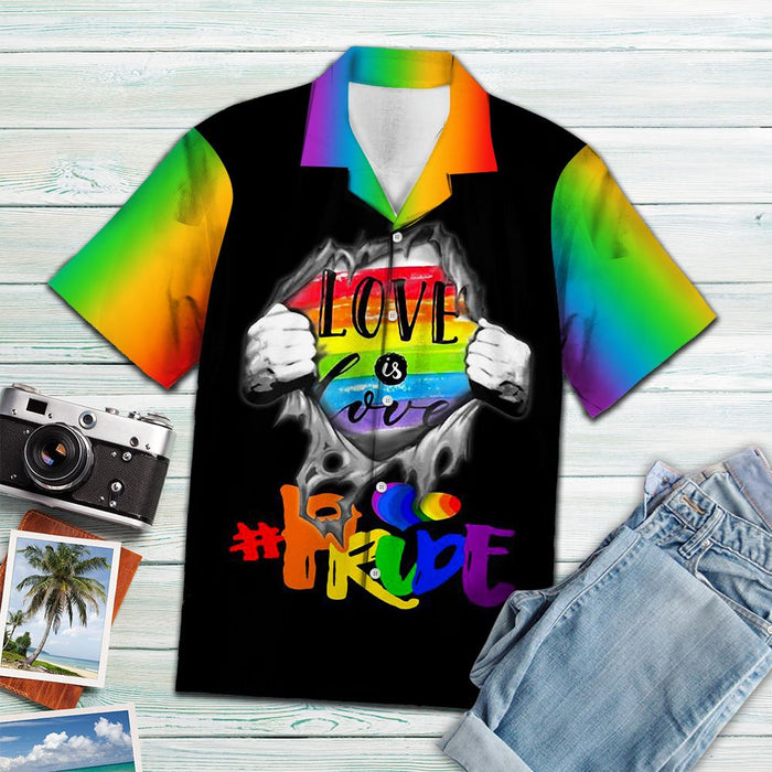 Aloha Shirt Mother's day Father's day unique gift ideas for mom & dad from daughter & son kids, meaningful birthday presents -  LGBT Pride D2407 - Hawaiian Shirt